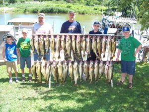 LUCKY STRIKE trophy walleye fishing charters ashtabula oh also perch fishing charters in geneva and conneaut oh