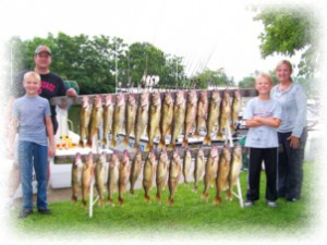 lake Erie fishing charter Ashtabula Ohio geneva conneaut smallmouth walleye steelhead perch
